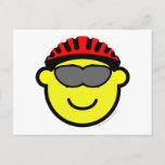 Biker buddy icon glasses  postcards