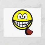 Pipe smoking smile   postcards