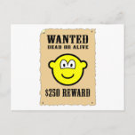 Wanted poster buddy icon   postcards