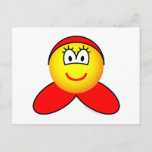 Little red riding hood emoticon   postcards