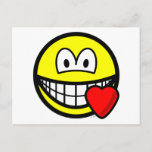 Love heart smile   postcards