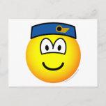 Stewardess emoticon   postcards