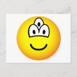 Drieoogige emoticon   postcards