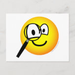 Magnifying glass emoticon Looking through  postcards