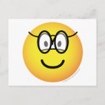 Emoticon with glasses   postcards