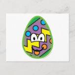 Easter egg emoticon   postcards