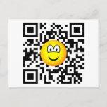 Qr Code emoticon 2D barcode  postcards