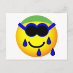 Swimming emoticon   postcards