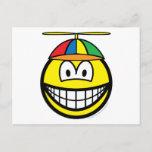 Propeller cap smile   postcards