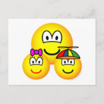 Single father emoticon   postcards