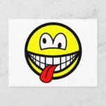 Crazy smile   postcards