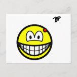 Mosquito bitten smile   postcards