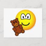 Teddy bear toy emoticon   postcards