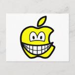 Apple logo smile   postcards