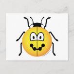 Ladybird emoticon   postcards