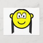 Black haired buddy icon   postcards