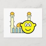 Mosque going buddy icon   postcards
