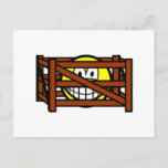 Fenced in smile   postcards