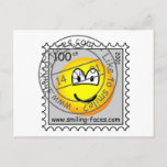 Stamped stamp emoticon   postcards