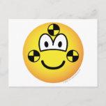 Crash test dummy emoticon   postcards
