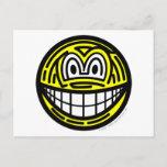 Finger print smile   postcards