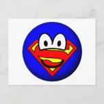 Superman emoticon Logo  postcards