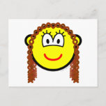 Curly hair buddy icon   postcards