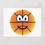 Basketball emoticon   postcards