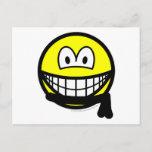 Black belt smile   postcards