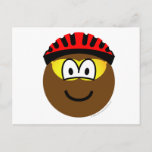 Biker emoticon muddy  postcards