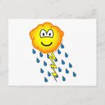 Thunder cloud emoticon   postcards