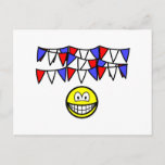 Bunting smile   postcards