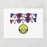 Bunting smile   postcards