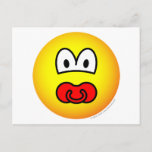 Dummy emoticon Baby pacifier  postcards