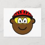 Biker buddy icon muddy  postcards
