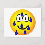 Stressed emoticon   postcards