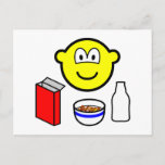 Breakfast buddy icon cereal  postcards