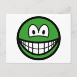 Colored smile green  postcards