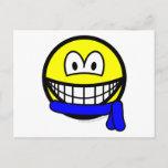Blue belt smile   postcards