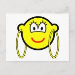 Big hoop earrings buddy icon   postcards