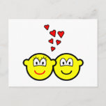 Two Buddy icons in love   postcards