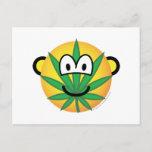 Cannabis emoticon   postcards