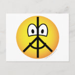 Peace emoticon   postcards