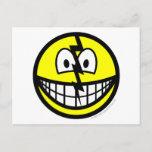 Cracked smile   postcards