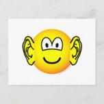 Ears emoticon Big  postcards