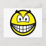 Evil smile   postcards