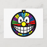 Wheel of fortune smile   postcards