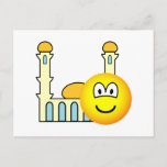 Mosque going emoticon   postcards