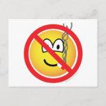 No smoking emoticon   postcards