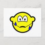 Nervous buddy icon Sweating  postcards